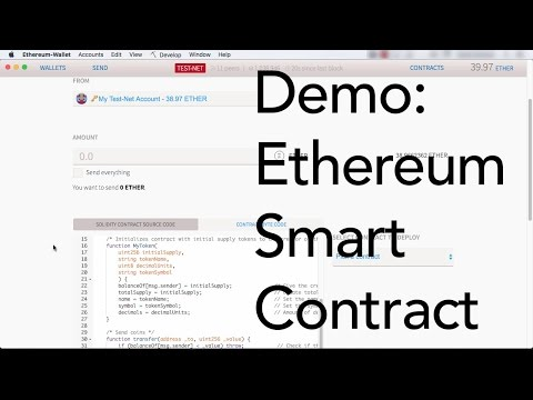 Demo: Create an Ethereum Smart Contract