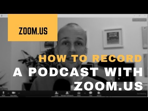 How to Record a Podcast on Zoom us