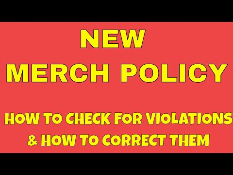 New Amazon Merch Policy... You Have 30 Days to Correct Any Designs in Violation