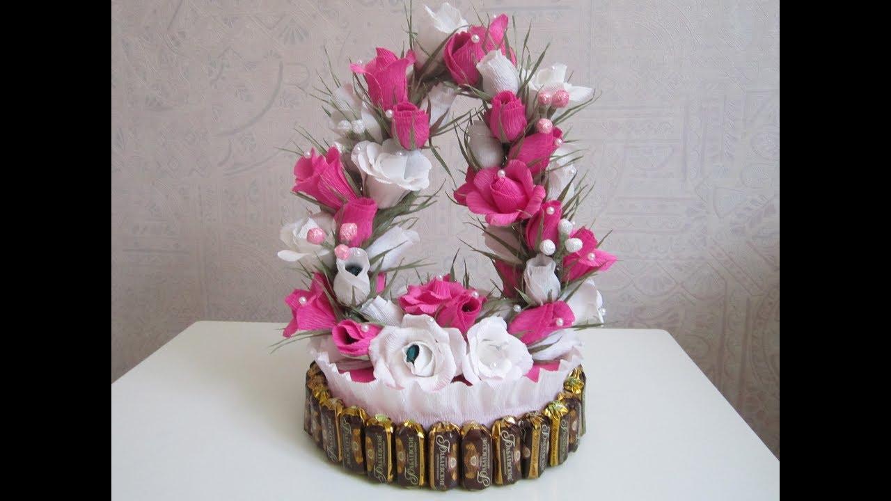 Торт и конфет с цветами своими руками фото 66
