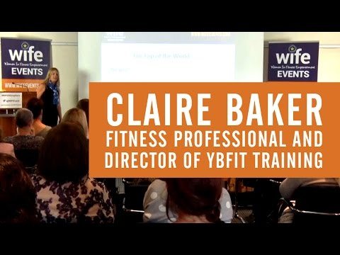 Claire Baker Presenting at the WIFE (Women in Fitness Empowerment) conference (Sept 2015)