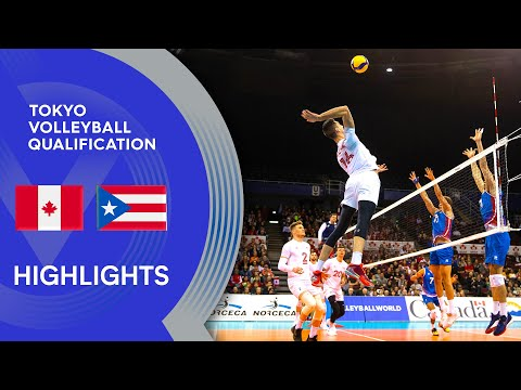 Canada vs. Puerto Rico - Highlights | NORCECA Men's Men's Tokyo Volleyball Qualification 2020 from YouTube · Duration:  8 minutes