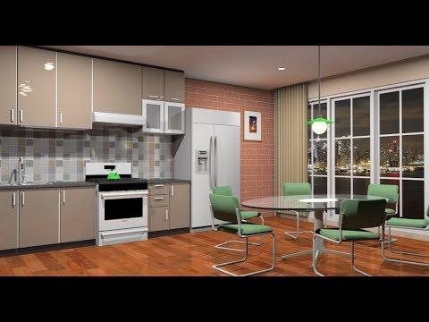 Make design interior kitchen using Sketchup