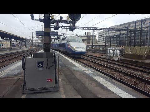 Trains at Paris Gare de Lyon Paris to Lyon Line 12/1/17