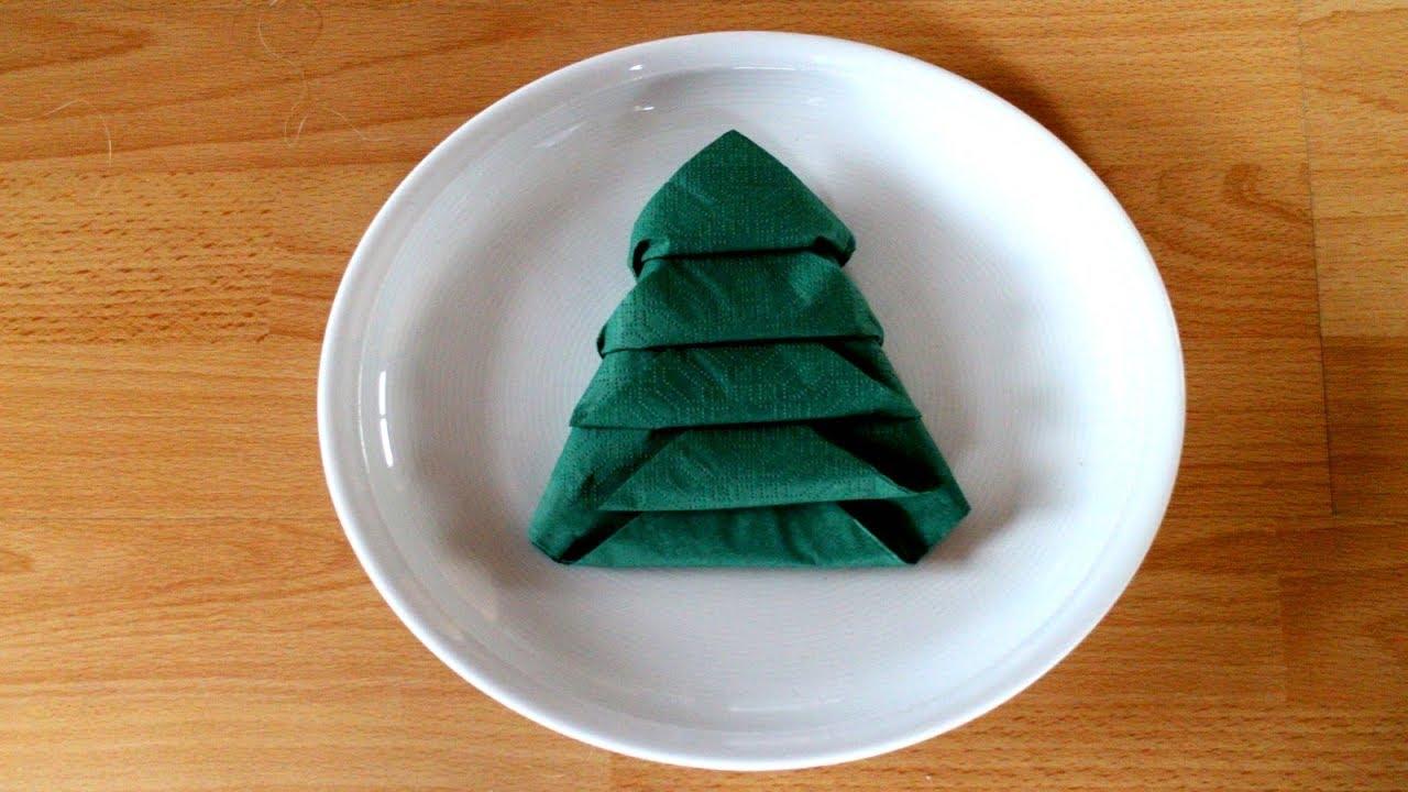 servietten falten einfach 39 tannenbaum 39 f r advent weihnachten w iii youtube. Black Bedroom Furniture Sets. Home Design Ideas