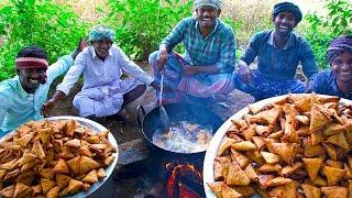 SAMOSA | Street Samosa Recipe | Healthy South Indian Potato Onion Crispy Samosa Cooking In Village