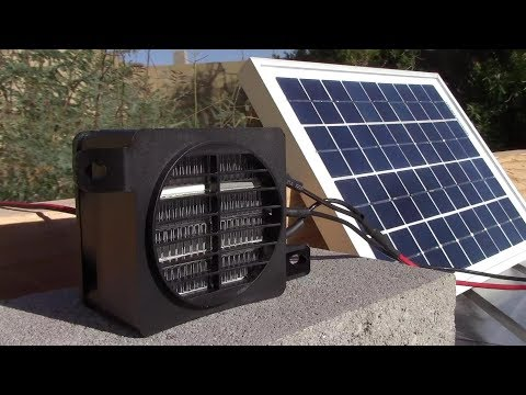 Solar Electric Air Heater! (100W 12V) - 100W Solar Panel runs it! - PV space heating!! Ez DIY