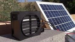 Solar Electric Air Heater! (100W 12V) - 100W Solar Panel runs it! - PV space heating!! Ez DIY