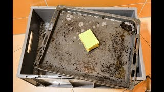 Wie bekomme ich mein Backblech garantiert NICHT sauber!!!