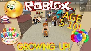 WATCH US GROW UP TO AGE 10 IN THIS FUN ROBLOX GAME! ROLE PLAYING FUN! RPG