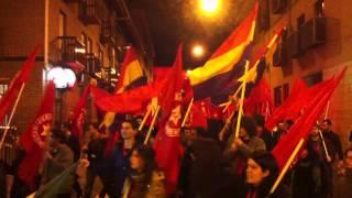 Manifestación San Fernando de Henares 12 Congreso UJCE (2/2)