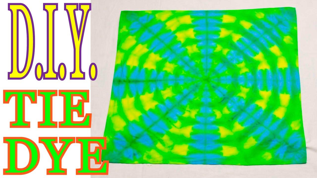 diy easy 2 color tie dye bandana variations tutorial 21 youtube