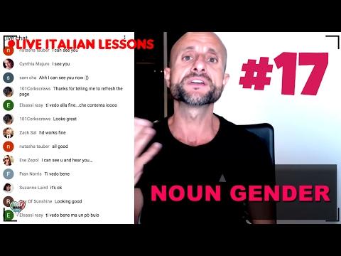 UNDERSTANDING ITALIAN NOUN GENDER - Live Interactive Lesson