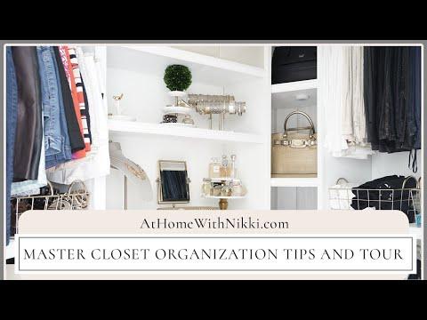 HOME ORGANIZATION   MASTER CLOSET ORGANIZATION TIPS & TOUR