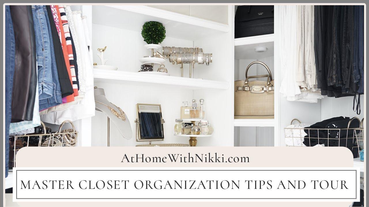 HOME ORGANIZATION | MASTER CLOSET ORGANIZATION TIPS & TOUR