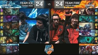 Ice (Ruzi Twitch) VS Fire (Baker Fizz) Tandem Mode Highlights - 2016 All-Star Day 4