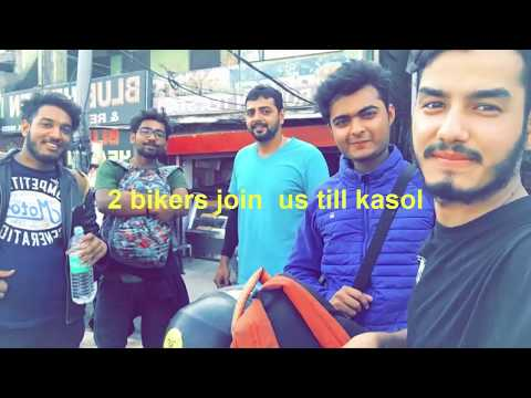 Delhi to kasol  |four frnds | bike trip