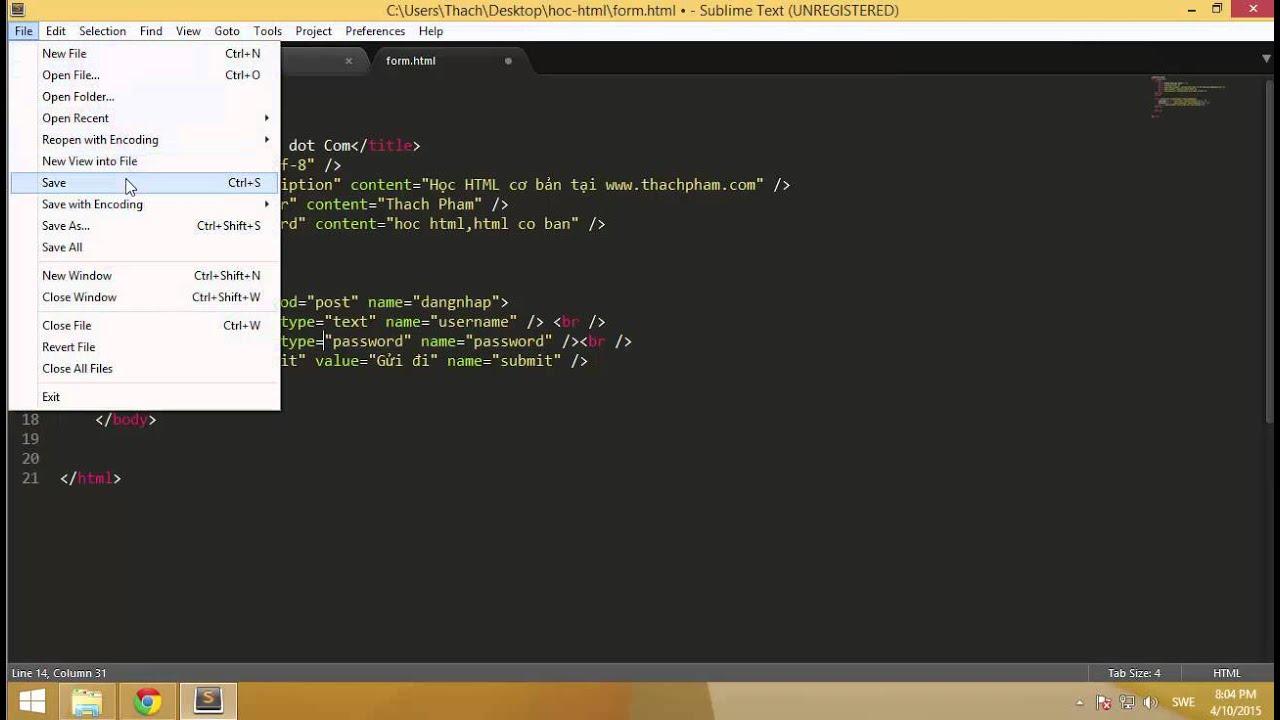 [Học HTML - 09] Tạo form nhập liệu