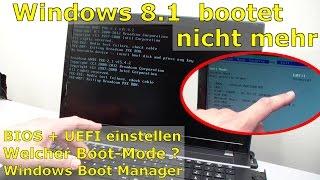 Windows 10 / 8.1 bootet nicht mehr -