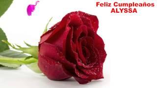 Alyssa - flowers - Happy Birthday