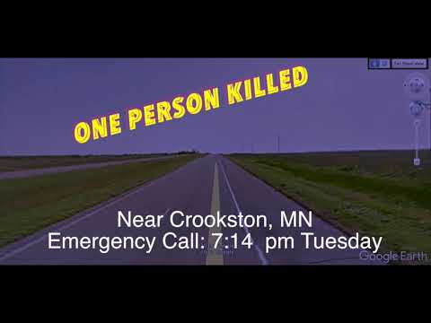 BREAKING NEWS: One Person Apparently Killed In 2-Vehicle Accident Near Crookston