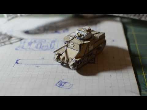 M3 Lee Paper Tank Model