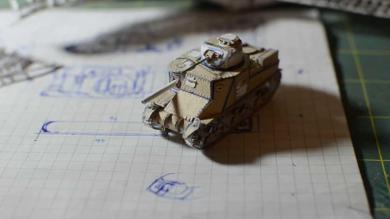 Papercraft M3 Lee Paper Tank Model