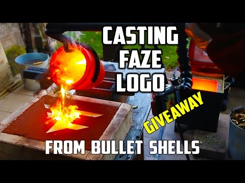 Casting Brass FaZe logo that looks like Gold