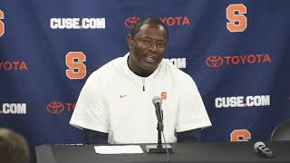 Dino Babers' postgame news conference after Syracuse football at Boston College (2018)