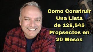 Como Vender Por Internet y Construir Una Lista de 128,545 Prospectos En 20 Meses
