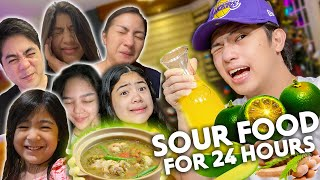 EATING Only SOUR FOOD For 24 Hours! (Ang Asim!) | Ranz and niana