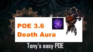 [Path of Exile] 3.6 오토사냥 데스오라 스킬 Automapping Death Aura skill - Diablo 3.5