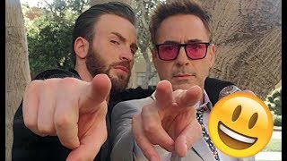 Avengers Infinity War Cast - 😊😅😊 Robert , Chris, Scarlett, Tom CUTE AND FUNNY MOMENTS 2018