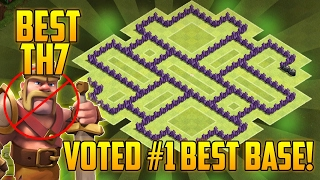 Clash Of Clans - TH7 FARMING Base BEST Town Hall 7 Defense With Air Sweeper (Without Barbarian King)