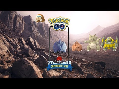 Pokemon Go Community Day Rhinocorne/Rhyhorn !