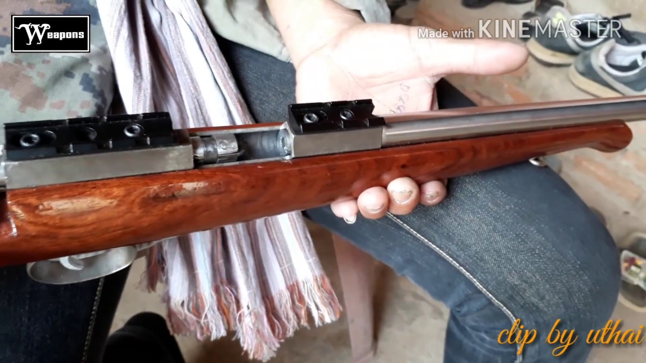 .22 LR  Homemade Gun Thai Rifle ไทยประดิษฐ์ ปืนซุ่มยิงล่าสัตว์สวยระดับของนอก