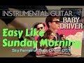 Easy Baby Driver OST Instrumental Guitar Karaoke Version Cover With Lyrics Sky Ferreira Inspired mp3