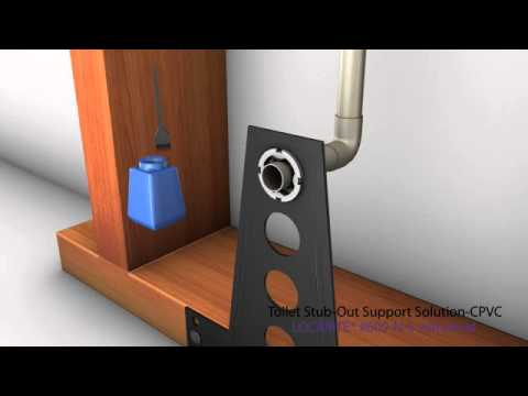Toilet Stub Out Support Solution Cpvc Youtube
