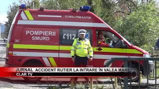 stire 25 09 2018   Accident rutier la intrare în Valea Mare