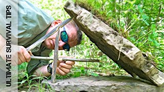 SURVIVAL MEAT: FIGURE FOUR Deadfall Trap -  the EASY Way
