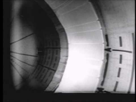 AS-203 Liquid Hyrdogen internal fuel tank camera during J2 motor fire and orbital coast