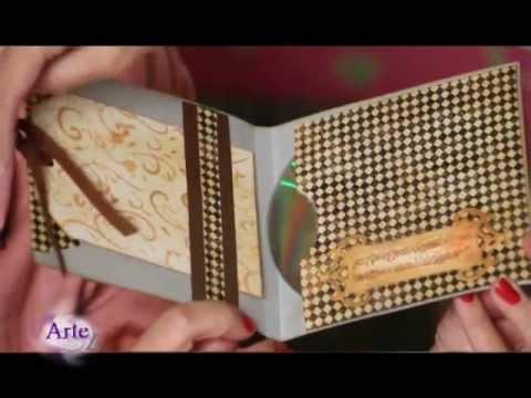 C mo hacer un porta cd con scrapbooking youtube - Como hacer un album scrapbook ...