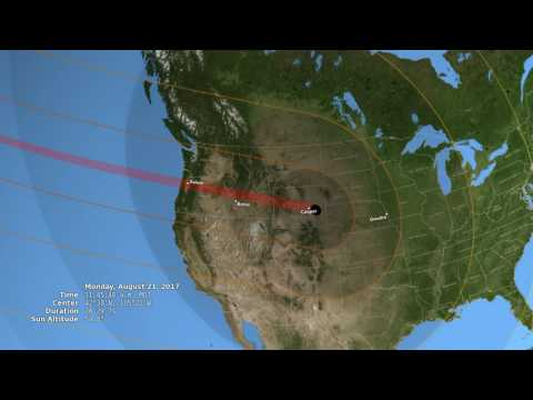 The path of the August 21, 2017 eclipse