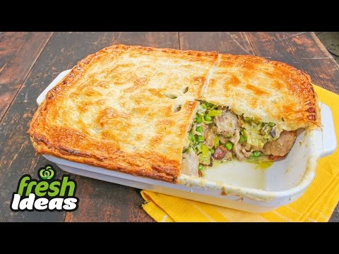 Rustic Chicken, Leek & Bacon Pie Recipe - Woolworths Fresh Ideas