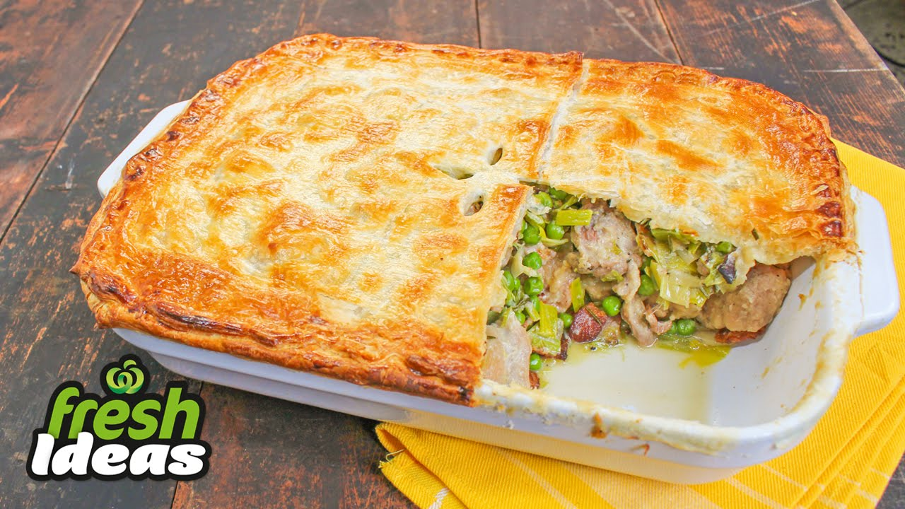 Rustic Chicken Leek Bacon Pie Recipe Woolworths Fresh Ideas Youtube
