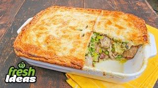 Rustic Chicken, Leek & Bacon Pie Recipe - Woolworths Fresh Ideas
