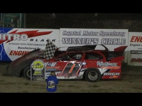 Late Model B Feature Race at Crystal Motor Speedway, Michigan on 09-04-16.