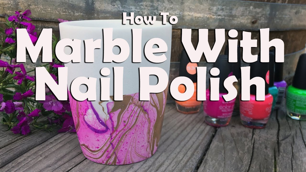 How To Marble With Nail Polish How