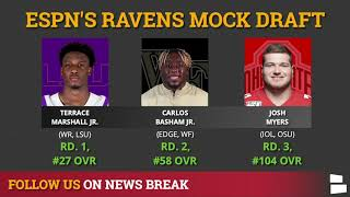 Baltimore Ravens NFL Mock Draft By Todd McShay & Mel Kiper | 3 Rounds For 2021