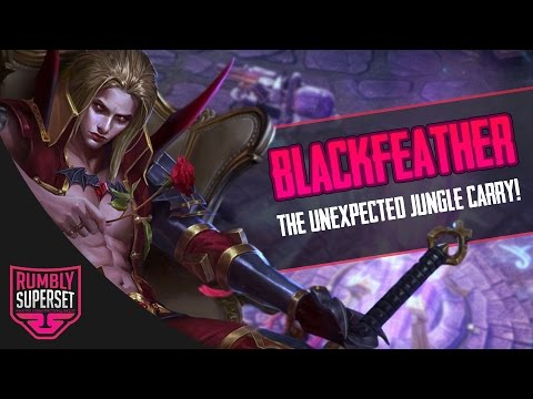Vainglory - Road to Vainglorious [Gold] - UNEXPECTED JUNGLER!! Blackfeather |WP| Lane [2.1]